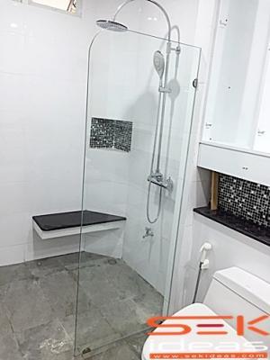กระจกกั้นห้องน้ำ